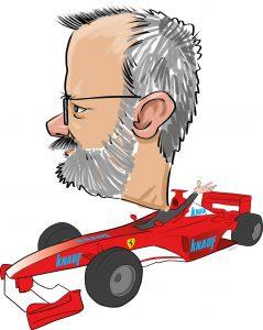 ipad Live karikatur med Allan Buch. farve profiltegning1
