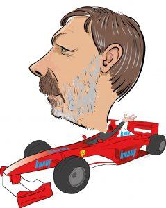 ipad Live karikatur med Allan Buch. farve profiltegning17