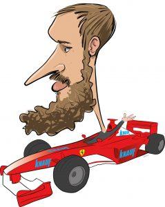 ipad Live karikatur med Allan Buch. farve profiltegning22