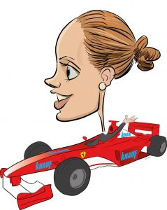 ipad Live karikatur med Allan Buch. farve profiltegning23