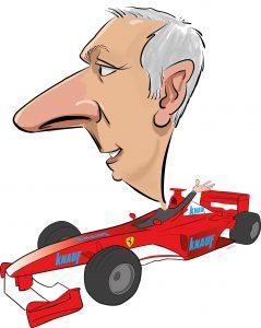 ipad Live karikatur med Allan Buch. farve profiltegning24