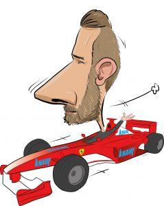 ipad Live karikatur med Allan Buch. farve profiltegning25