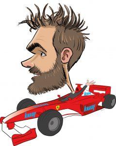 ipad Live karikatur med Allan Buch. farve profiltegning26